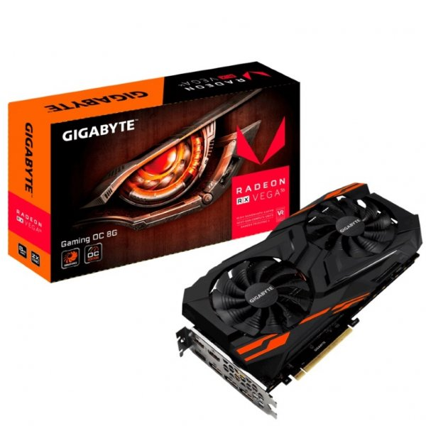 Gigabyte Amd Radeon Rx Vega 56 Gaming Oc 8gb Pcie Video Cards 8k 7680x4320 GV-RXVEGA56GAMING-OC-8GD