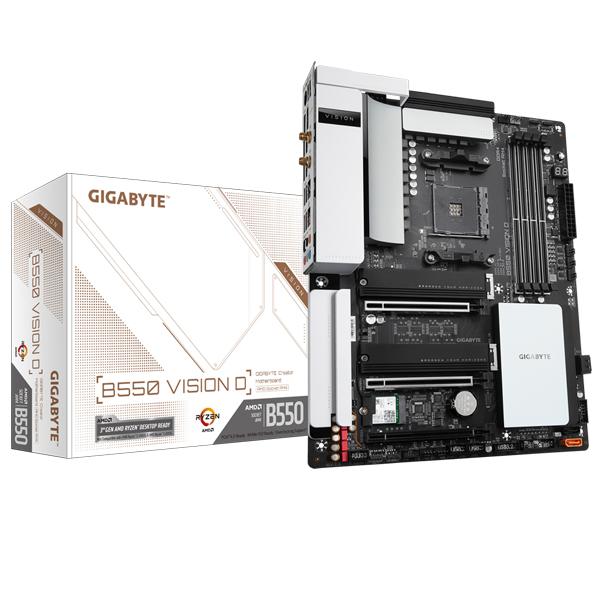 Gigabyte Gigbayte B550 Vision D Mb 4xddr4 4xsata 2xm.2 Usb-c Wifi-ax Atx 3 GA-B550-VISION-D