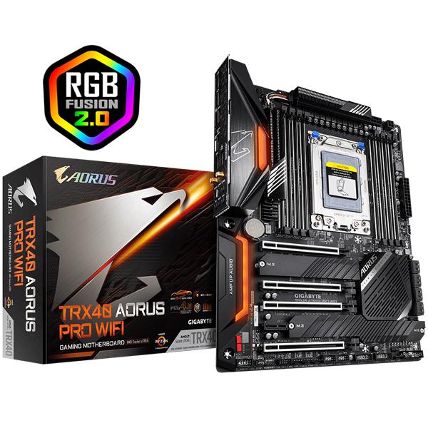 Gigabyte Trx40 Aorus Pro Wifi Mb Strx4 8xddr4 8xsata 2xm.2 Usb-c Atx 3yr W GA-TRX40-AORUS-PRO-WIFI
