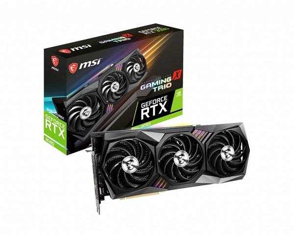 Msi Nvidia Geforce Gddr6x 1815 Mhz Boost 4 Displays 7680x4320 3xdp 1x RTX 3080 GAMING X TRIO 10G