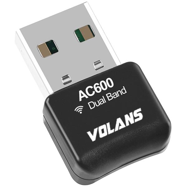 VOLANS VL-UW60-FD AC600 Mini WiFi Dual Band Wireless USB Adapter