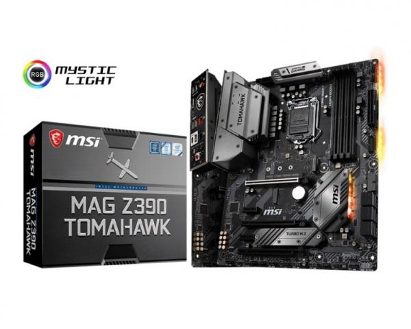 Msi Atx Motherboard -s1151 9gen 4xddr4 3xpci-e Dp hdmi 2xm.2 Dual Lan MAG Z390 TOMAHAWK