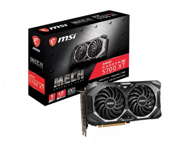 Msi Amd Radeon 8gb Gddr6 Pcie Graphic Card 7680x4320 4xdisplays 3xdp  RX 5700 XT MECH OC