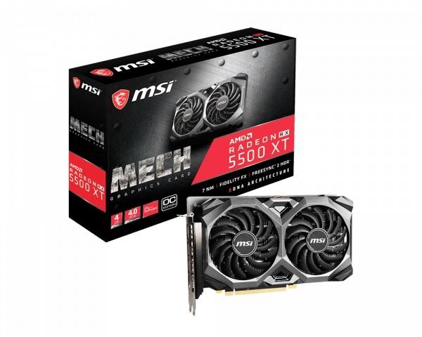 Msi Amd Radeon Rx 5500 Xt Mech Oc 4gb Gddr6 Pcie 4.0 Graphics Card 76 RX 5500 XT MECH 4G OC