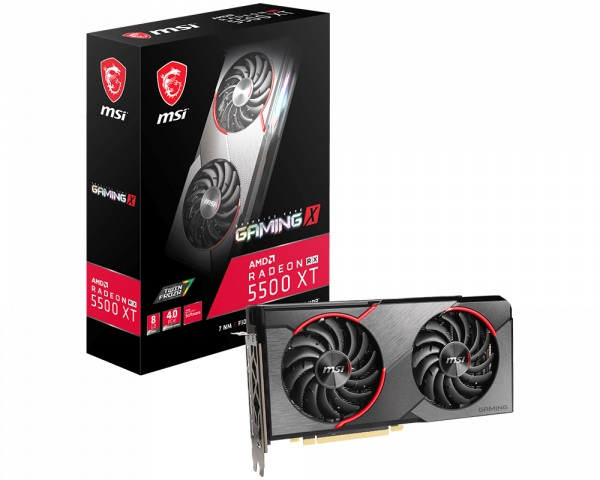 Msi Amd Radeon Rx 5500 Xt Gaming X 8gb Gddr6 Pcie 4.0 Graphics Card 7 RX 5500 XT GAMING X 8G