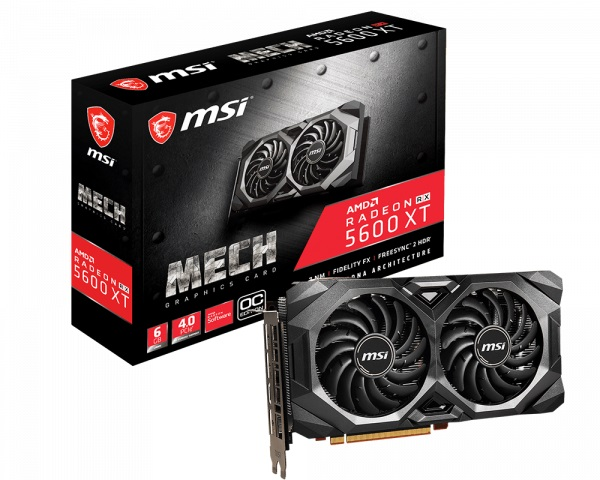 Msi Amd Radeon 6gb Gddr6 Pcie 4.0 Graphics Card 7680x4320 4xdisplays  RX 5600 XT MECH OC