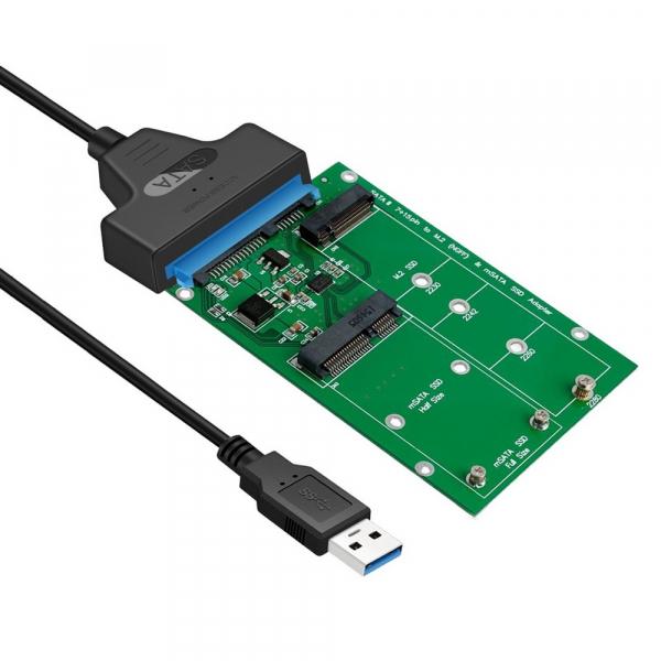 Simplecom Sa221 Usb 3.0 To Msata + Ngff M.2 (b Key) Ssd 2 In 1 Combo Adapte SA221-1