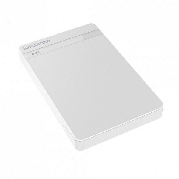 Simplecom Se203 Tool Free 2.5' Sata Hdd Ssd To Usb 3.0 Hard Drive Enclosure SE203-WHITE