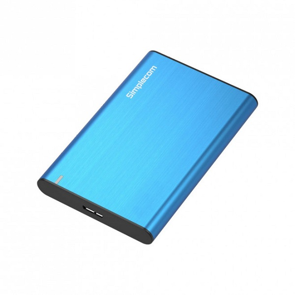 Simplecom Se211 Aluminium Slim 2.5'' Sata To Usb 3.0 Hdd Enclosure Blue SE211-BLUE