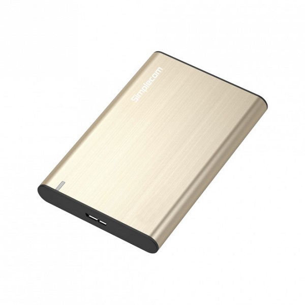 Simplecom Se211 Aluminium Slim 2.5'' Sata To Usb 3.0 Hdd Enclosure Gold SE211-GOLD