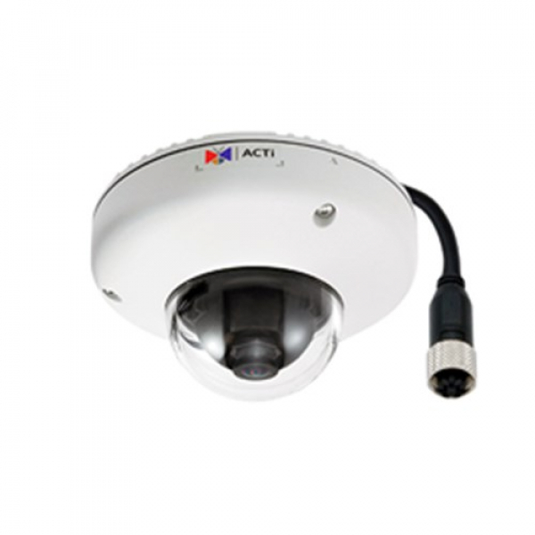 Acti - 5mp Outdoor Mini Dome M12 Connector Poe F1.9mm/f2.8 1080p/30fps E920M