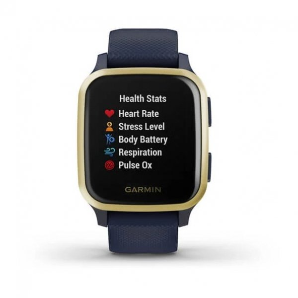 Garmin Venu SQ Music Edition Light Gold Aluminium Bezel With Navy Case A 010-02426-12