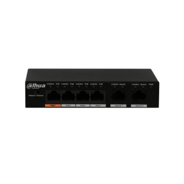 Dahua 4 Port Poe Switch Unmanaged DH-PFS3006-4ET-60