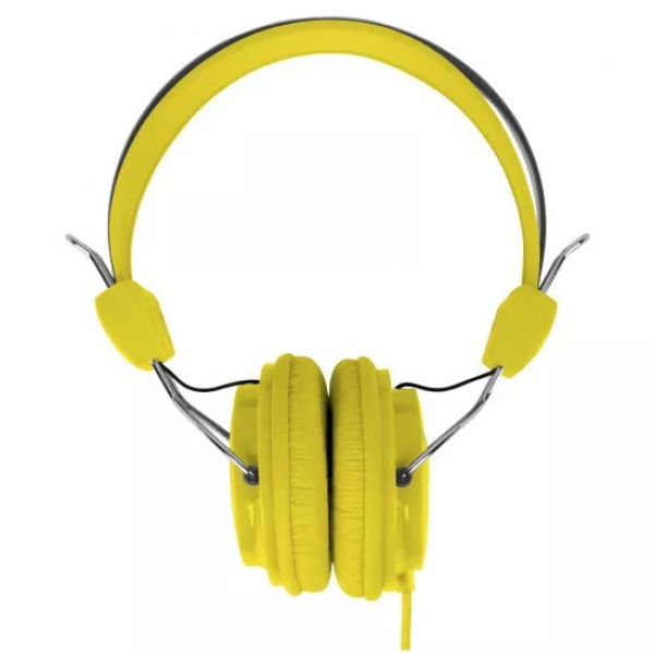 Laser Headphones Stereo Kids Friendly Colourful Yellow - Moq 10 AO-HEADK-YE