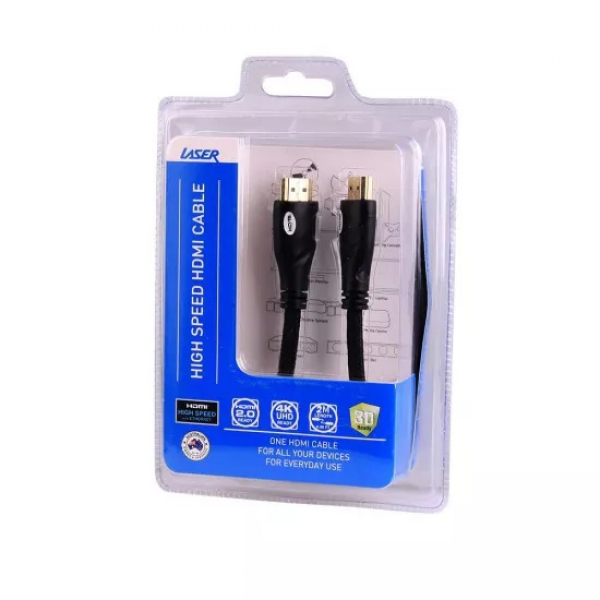 Laser Hdmi Cable V2.0 2m Gold 1080p - Moq 20 CB-HDMI2-V2