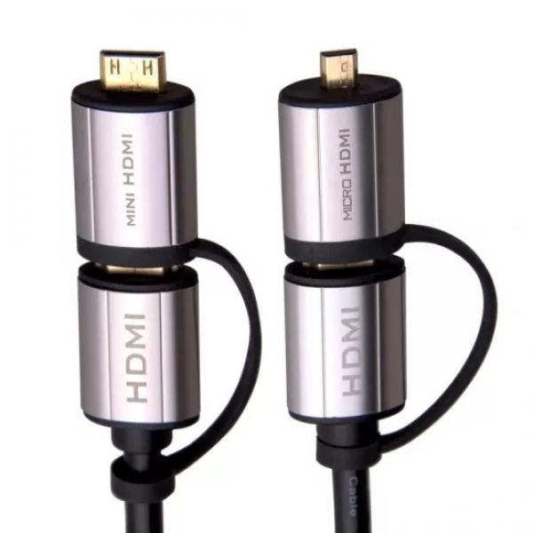 Laser Hdmi 4k Full Size & Mini Hdmi - 1.8m - Moq 4 CB-HDMI2X2-4K