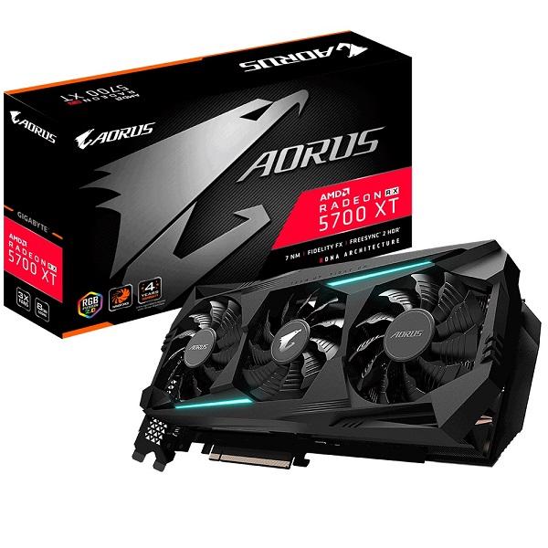 Gigabyte Amd Radeon Navi Aorus Rx 5700 Xt V2 8gb Gddr6 Pcie Graphic Card 8 GV-R57XTAORUS-8GD 2.0