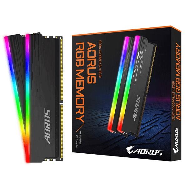 Gigabyte Aorus Rgb Memory Ddr4-4400mhz 16gb Memory Kit Supports Aorus Rgb  GP-ARS16G44
