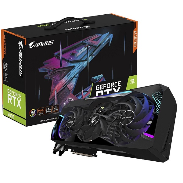 Gigabyte Nvidia Geforce Aorus Rtx 3090 Master 24g Gddr6x 1785 Mhz 7680x432 GV-N3090AORUS M-24GD