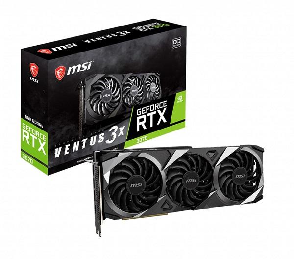 Msi Nvidia Geforce 8gb Gddr6 4xdisplays 7680 X 4320 3xdp 1xhdmi Vr G- RTX 3070 VENTUS 3X OC