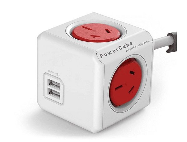 Allocacoc Powercube Extended 4 Outlets With 2 Usb 3m - Red (ls) 5404/AUEUPCRED