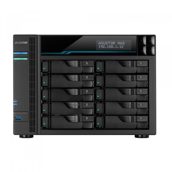Asustor 10 Bay Nas I9 Xeon E-2224 3.5ghz Quad-core 8gb Ddr4 2.5gbe X3 10g AS7110T