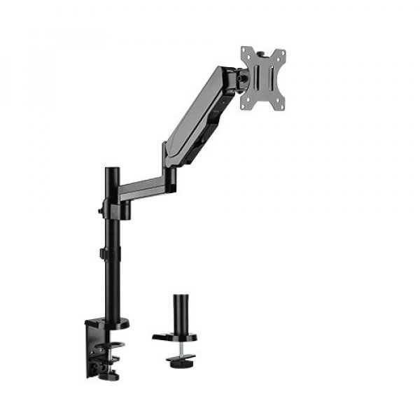 Brateck Single Monitor Full Extension Gas Spring Single Monitor Arm 17' - LDT16-C012