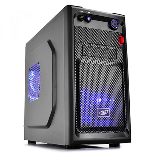Deepcool Smarter Micro Atx Case With Led Includes 2x Blue 120mm L DP-MATX-SMTRLED