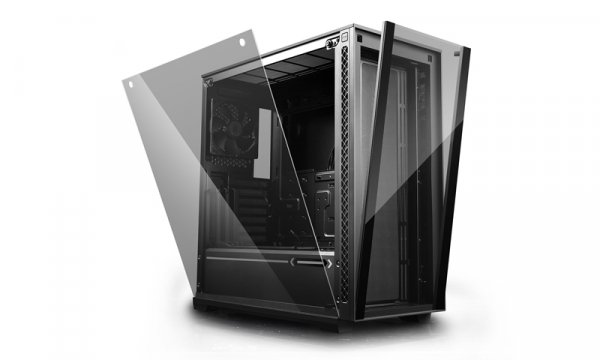 Deepcool Matrexx 70 Tempered Glass Mid Tower Case Supports Up To  DP-ATX-MATREXX70-BKG0P