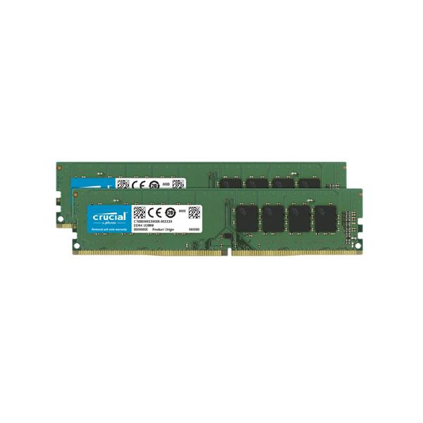 Crucial 32gb (2x16gb) Ddr4 Udimm 3200mhz Cl22 Dr X8 Dual Channel  CT2K16G4DFD832A