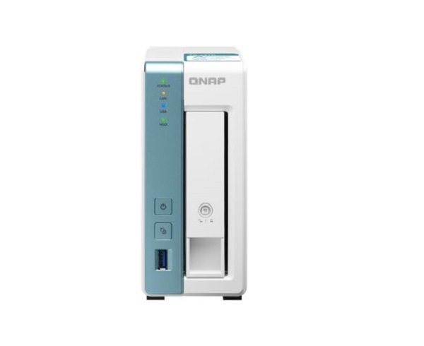 Qnap 1 Bay Nas Alpine Al-214 4-core 1.7ghz 1gb Ddr3 512mb 1x3.5in Sata  TS-131K