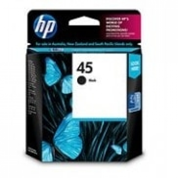 HP  45 Black Ink 830 Page Yield For Dj 8xx 9xx 51645AA