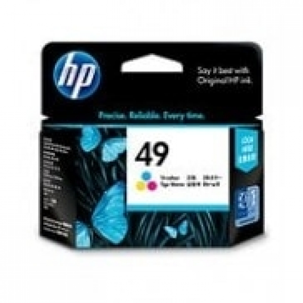 HP  49 Tri-colour Ink 350 Page Yield For Dj 51649AA