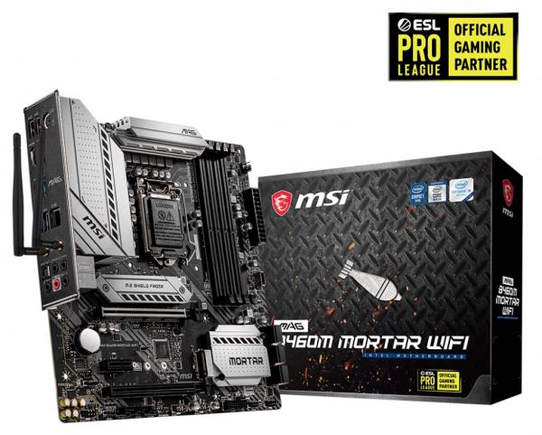 Msi MAG B460M MORTAR WIFI Matx Motherboard