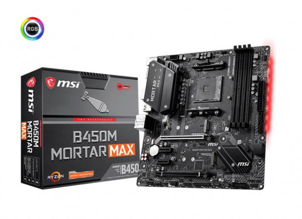 Msi B450M MORTAR MAX Ryzen Matx Motherboard