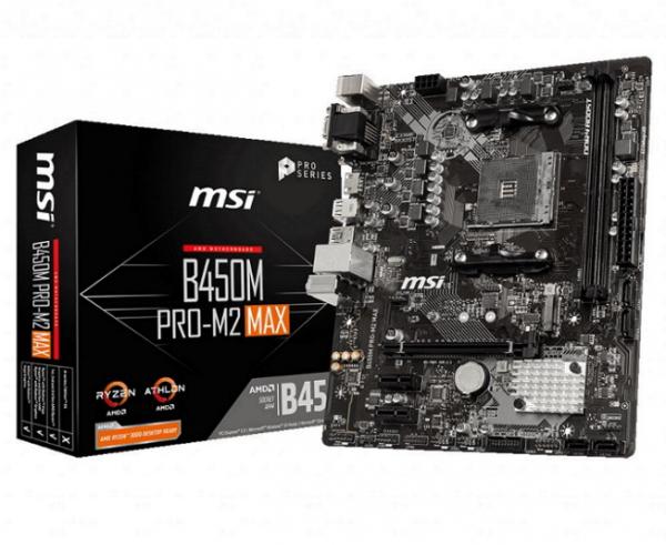 Msi B450M PRO-M2 MAX Ryzen Matx Motherboard