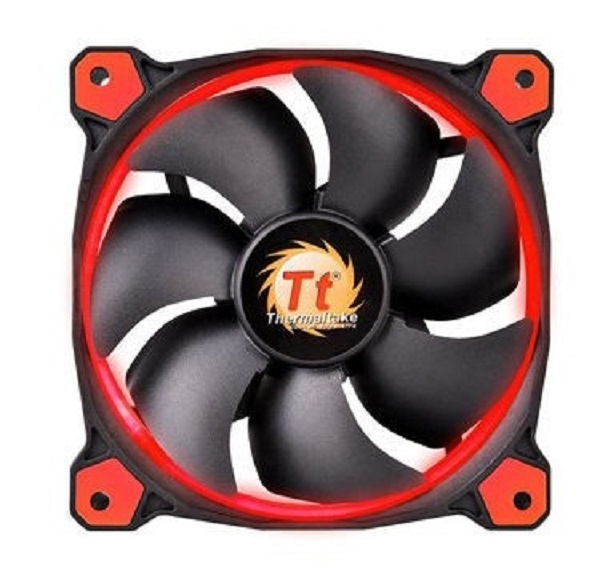 Thermaltake Ring 12 Series High Static Pressure 120mm Red Led Fan CL-F038-PL12RE-A