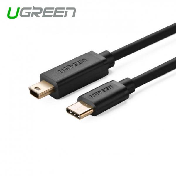 Ugreen Usb Type C Male To Usb 2.0 Mini 5pin Male Cable - Black 1m (30185 ACBUGN30185