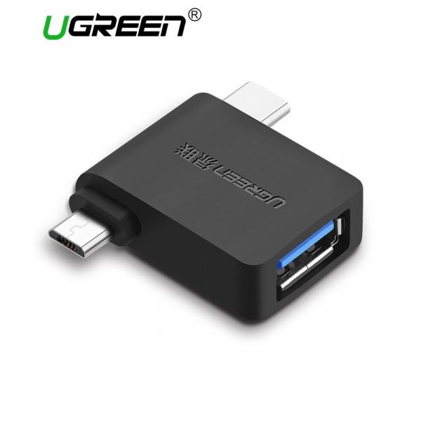 Ugreen Micro Usb+ Usb-c To Usb 3.0 Adapter (30453)