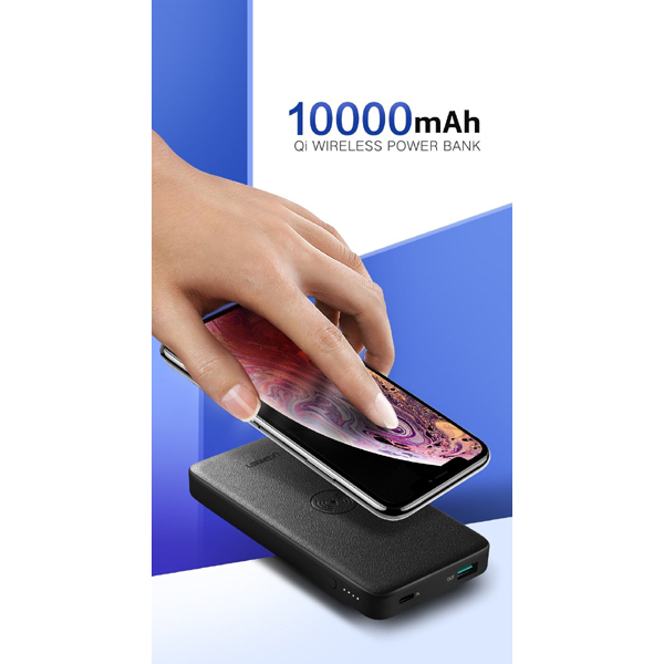 Ugreen Ugreen 10000mah Power Bank With 10w Qi Wireless Charging Pad - Bl