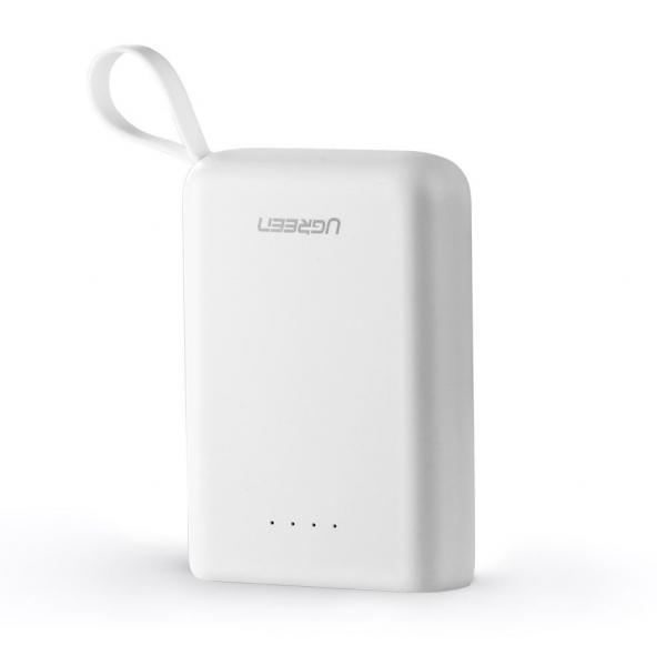 Ugreen 10000mah Mini Power Bank Dual Usb-a + Type C (white) 60197