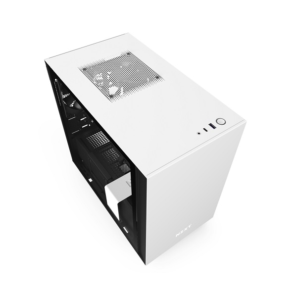 Nzxt Matte White & Black H210 Mini Tower Chassis CA-H210B-W1