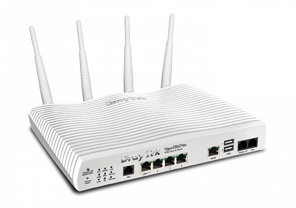 Draytek Multi Wan Firewall Qos Ipv6 Router 3g/4g Usb Wan Port DV2862Vac