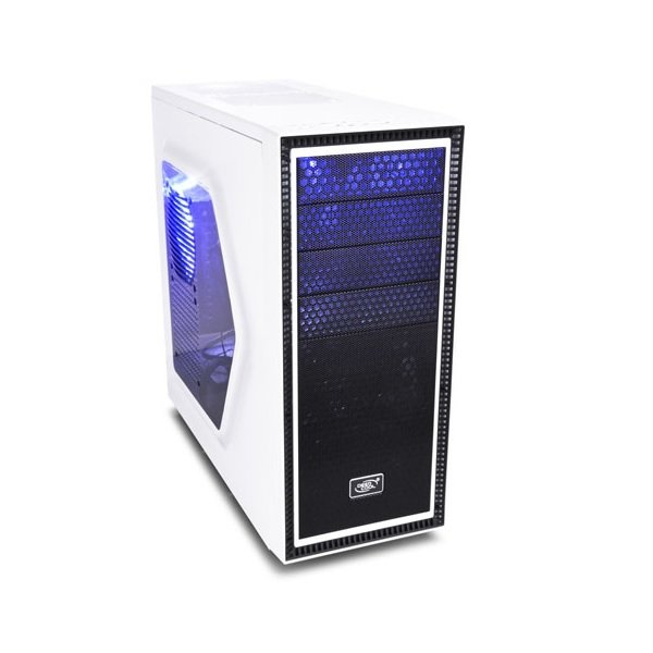 Deepcool White Tesseract Sw Mid Tower Chassis ATX-TSRSWWH