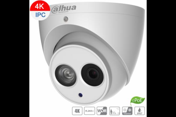 Dahua 8mp Ip Turret Fixed 4.0mm Lens Built-in Mic Icrwdrir AA-DH-IPC-HDW4831EMP-ASE-0400B