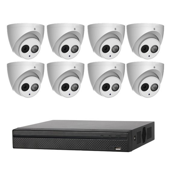 Dahua 6mp 8ch Cctv Kit 6x Ip Turret Camera And 8ch Nvr HDWS3641TMP6+NVR