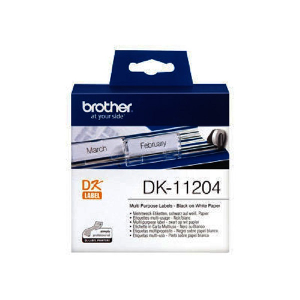 Brother White Multi-purpose Return Address 17 X 54mm 400 Labels DK-11204