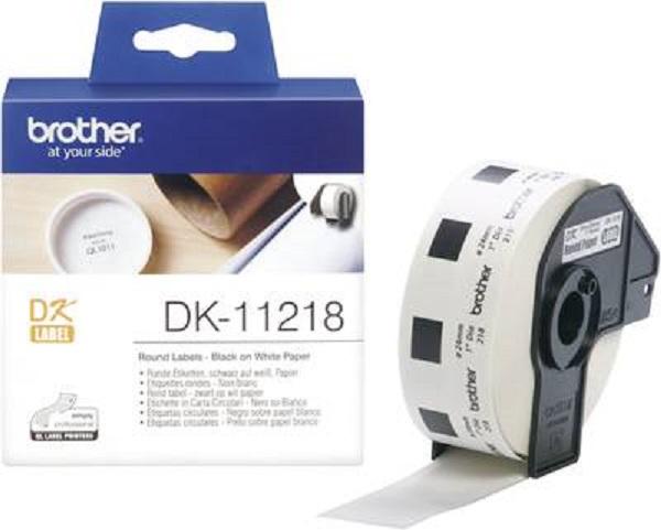 Brother Cut Labels 24mm Diameter 1000 Labels Per Roll DK-11218