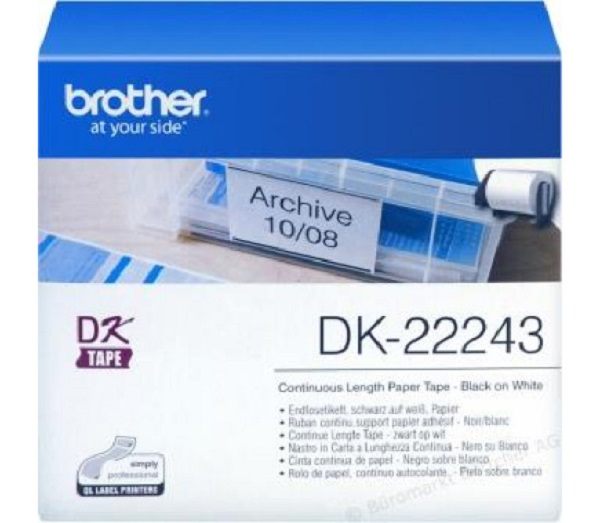 Brother (eol) White Continuous Paper Roll 102mmx30.48m For Ql-1050/1060n DK22243