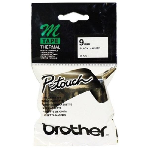 Brother Mk221 9mm Black On White M Tape M-K221
